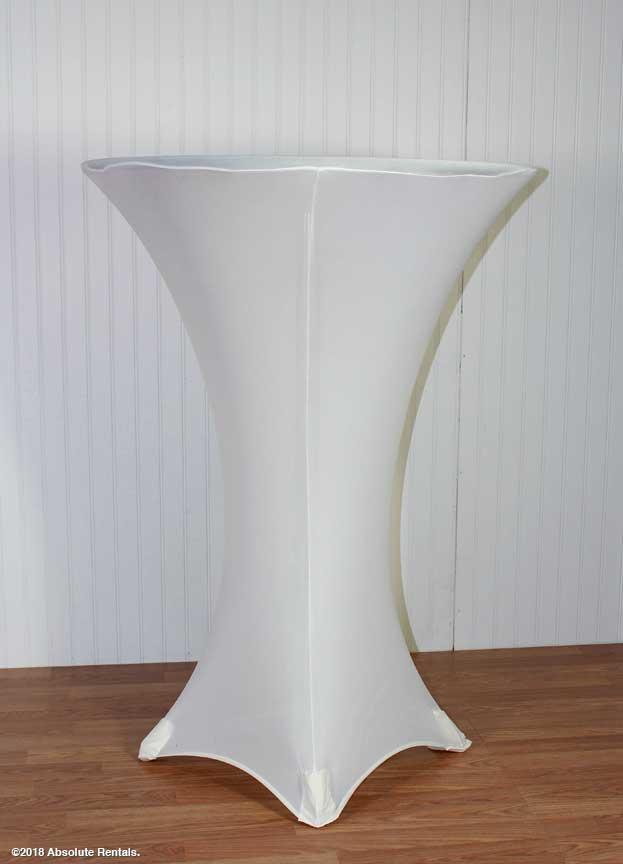 white-spandex-table