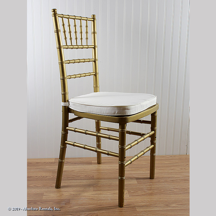 Chaiabari Chair Gold White Pad