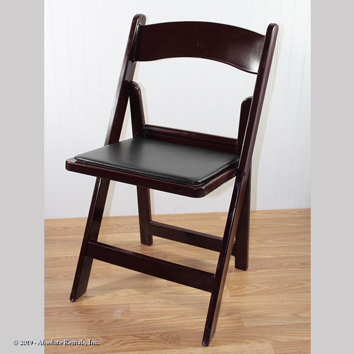 Chair-Folding-Mahogany-Black