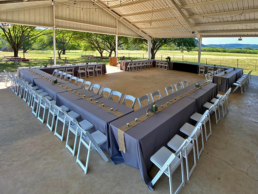 Special Setups, Tables, Chairs, Linens.